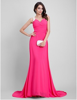 New Zealand Formal Evening Dress Beautiful Back A Line Sweetheart Long Floor Length Chiffon With Embroidery