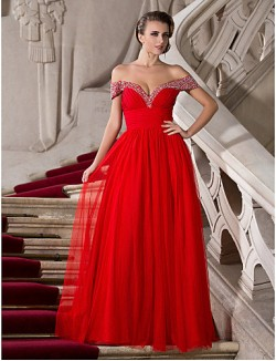Prom Gowns New Zealand Formal Evening Dress Military Ball Dress Sexy Plus Size Petite A Line Princess Off The Shoulder Sweetheart Long Floor Length Chiffon