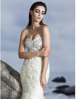 New Zealand Formal Evening Dress Trumpet Mermaid Sweetheart Long Floor Length Tulle Dress With Beading