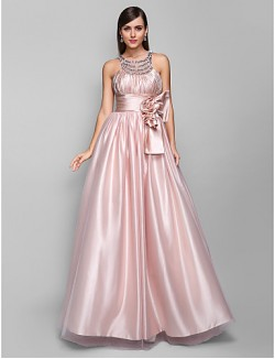 Prom Gowns New Zealand Formal Evening Dress Military Ball Dress Open Back Plus Size Petite A Line Jewel Long Floor Length Tulle Dress Stretch Satin WithCrystal