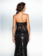 New Zealand Formal Evening Dress See Through Plus Size Petite Trumpet Mermaid Sweetheart Court Train Sequined With Appliques