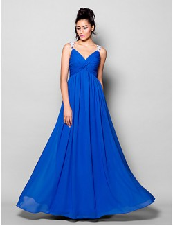 New Zealand Formal Evening Dress Plus Size Petite A Line V Neck Long Floor Length Chiffon With Beading Crystal Detailing Criss Cross Ruching
