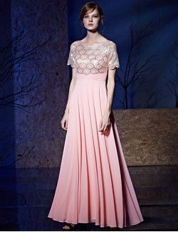New Zealand Formal Evening Dress A Line Bateau Long Floor Length Chiffon Sequined With Sequins Ruching