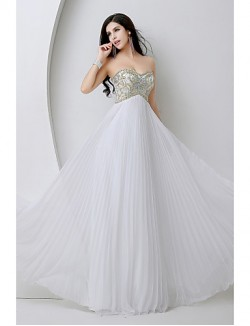New Zealand Formal Evening Dress Sheath Column Sweetheart Long Floor Length Chiffon With Beading Crystal Detailing