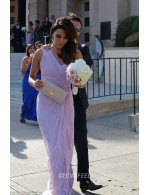 One Shoulder Slit Elegant Long Chiffon Bridesmaid Dress
