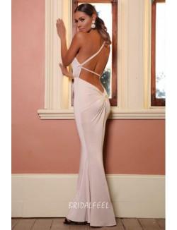 Single Strap Sexy Open Back Mermaid Long Prom Dress