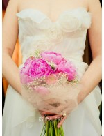Strapless Sweetheart Floor Length Chiffon Summer Wedding Dress