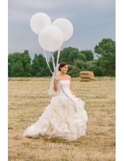 Destination Ball Gown Strapless Layered Organza Fall Wedding Dress