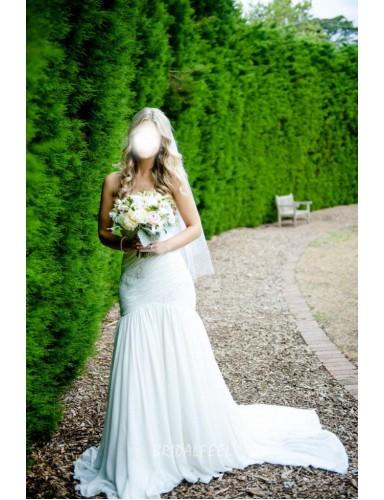 Destination Mermaid Strapless Sweetheart Chiffon Summer Wedding Dress