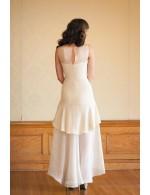 Destination High Low Sleeveless Layered Chiffon Spring Wedding Dress