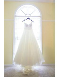 Elegant Ball Gown Strapless Sweetheart Organza Spring Wedding Dress