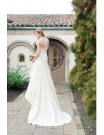 Ivory Strapless Mermaid Mdern Fall Wedding Dress