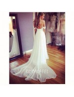 Beautiful Off The Shoulder Sweetheart A Line Ivory Summer Wedding Dress